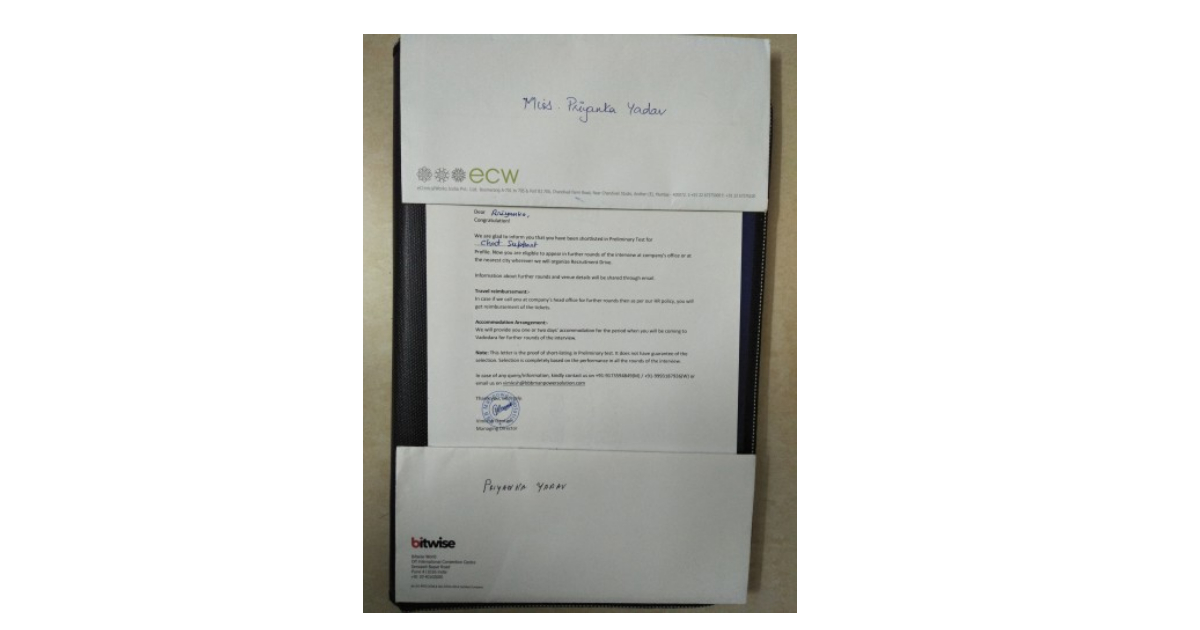 Offer letter of three companies