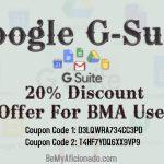 Google G-Suite 20 Percent Discount