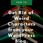 How to remove weird characters from your WordPress blog