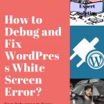 WordPress White Screen Error Fix