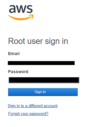 Login to AWS console