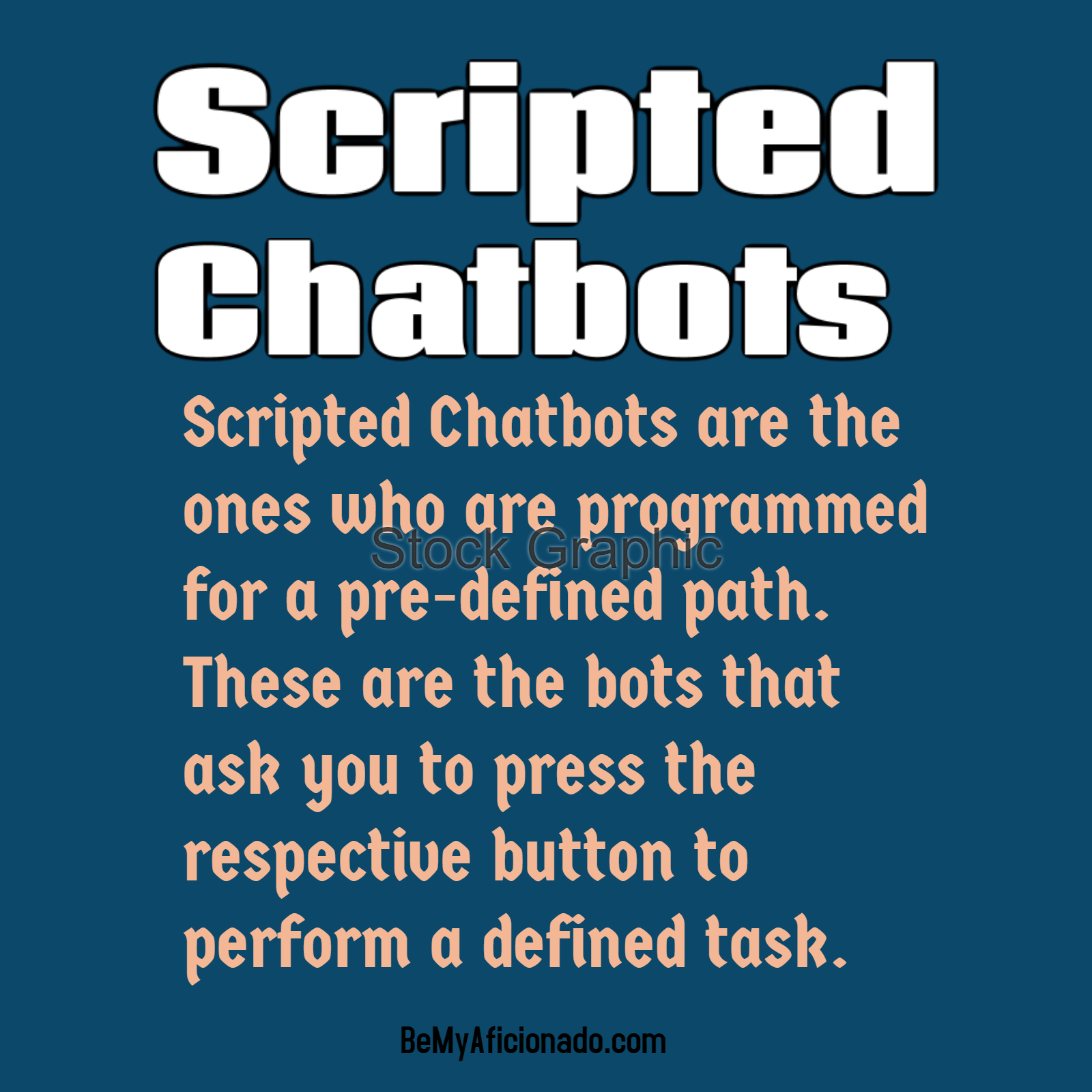 Scripted Chatbots are the ones who are programmed for a pre-defined path. These are the bots that ask you to press the respective button to perform a defined task.