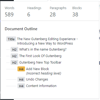 Gutenberg Content Structure