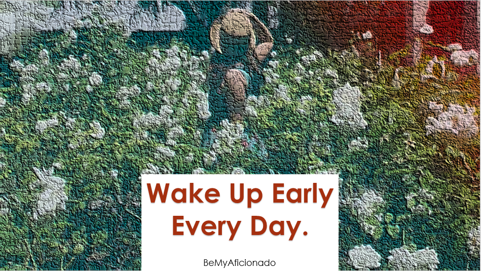 Wake up early everyday