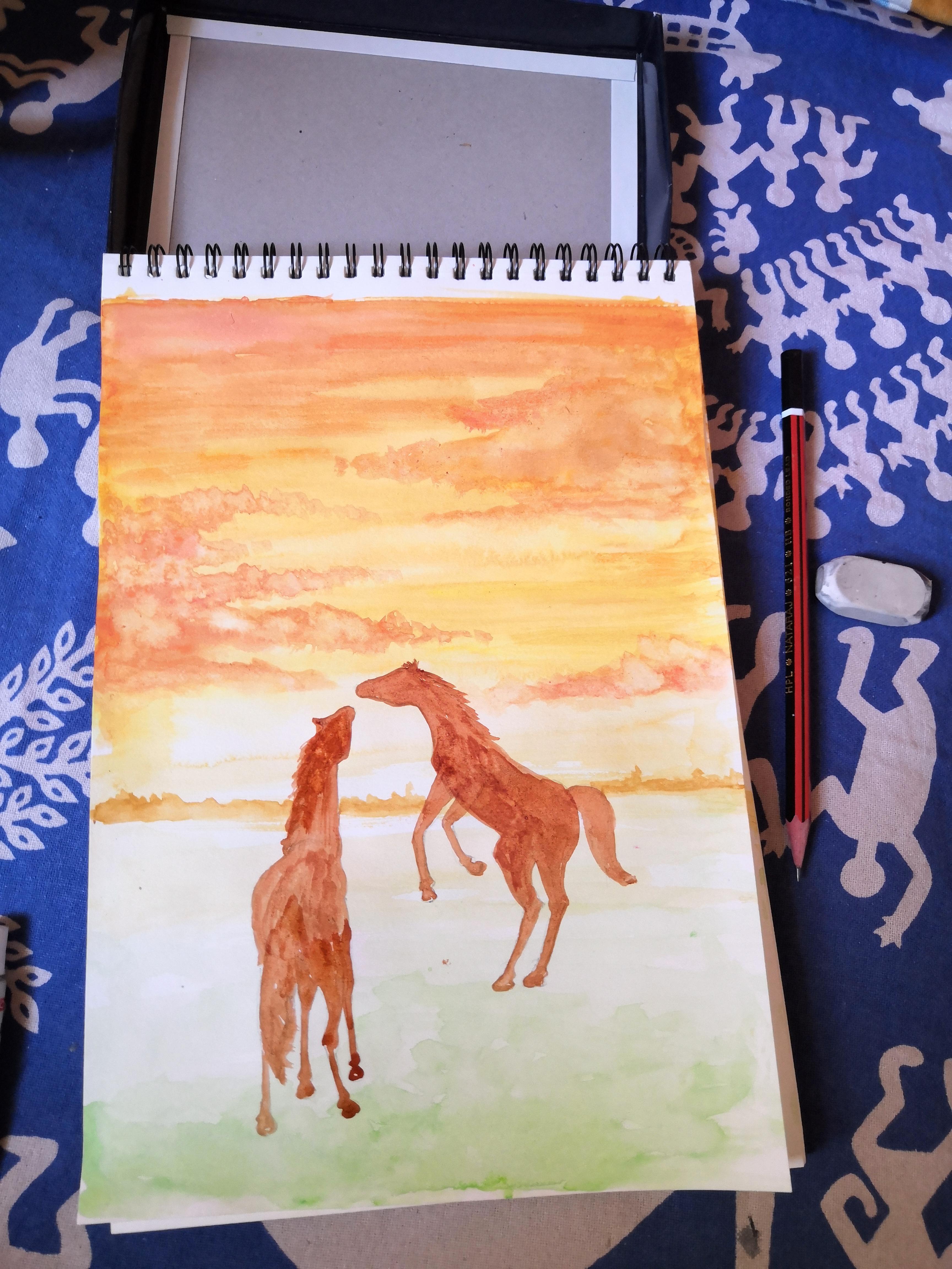 Horse Art Bright Sky