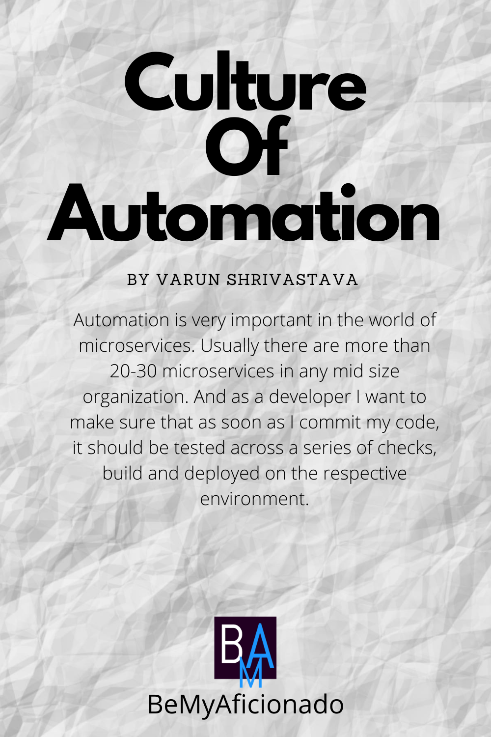 Culture Of Automation