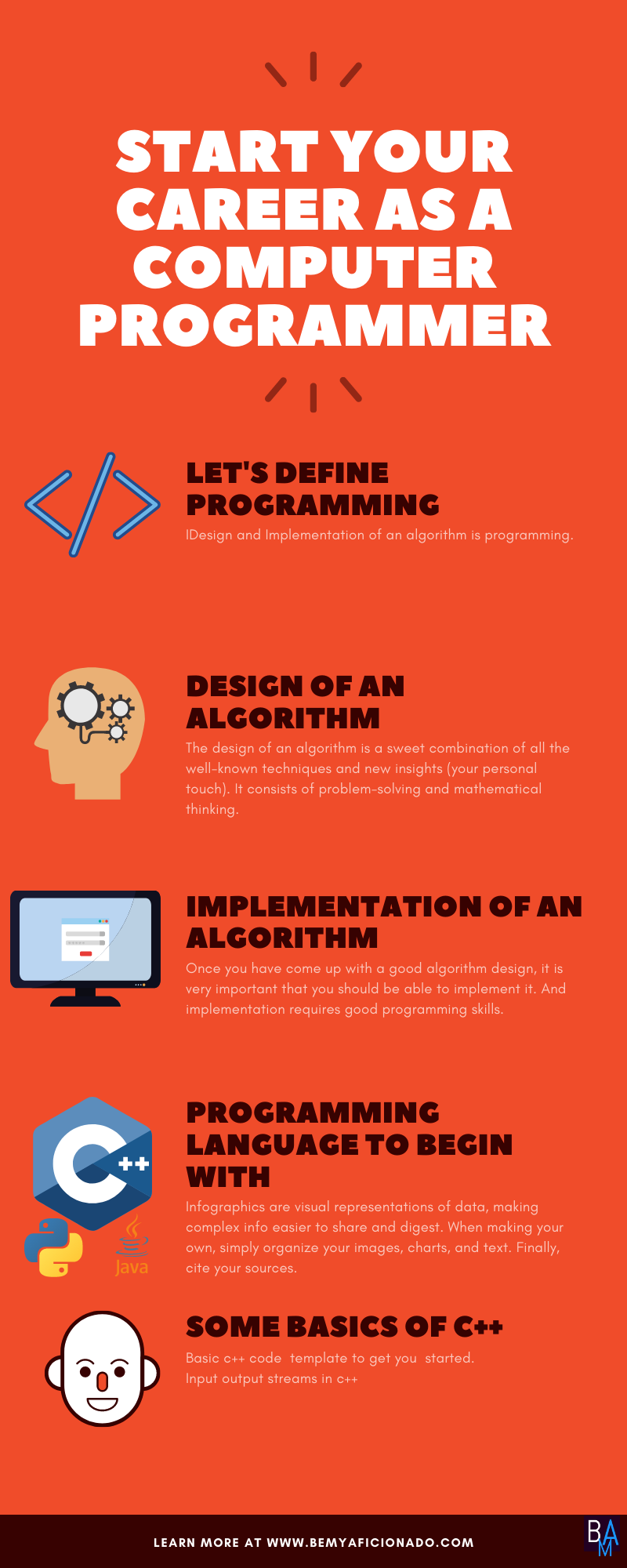 Start Your Career as a Computer Programmer Infographics