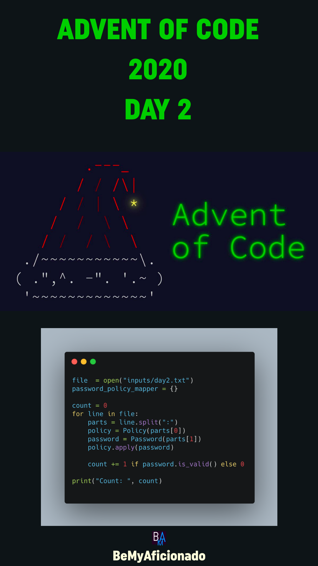 Advent of code day 2 - Password Philosophy