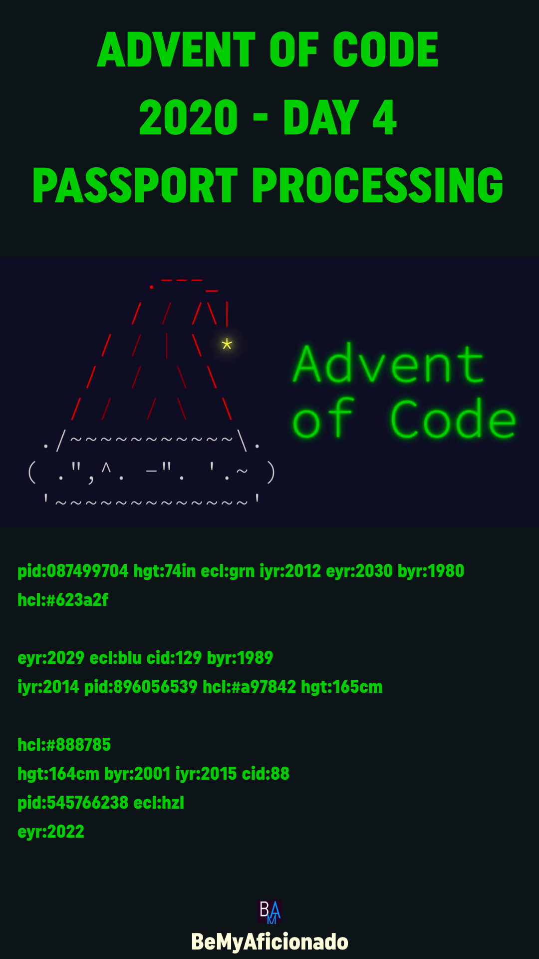 Advent of Code 2020 - DAY 4 - Passport Processing
