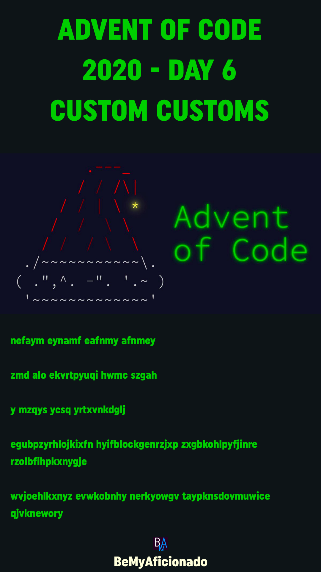 Advent of Code 2020 - DAY 6