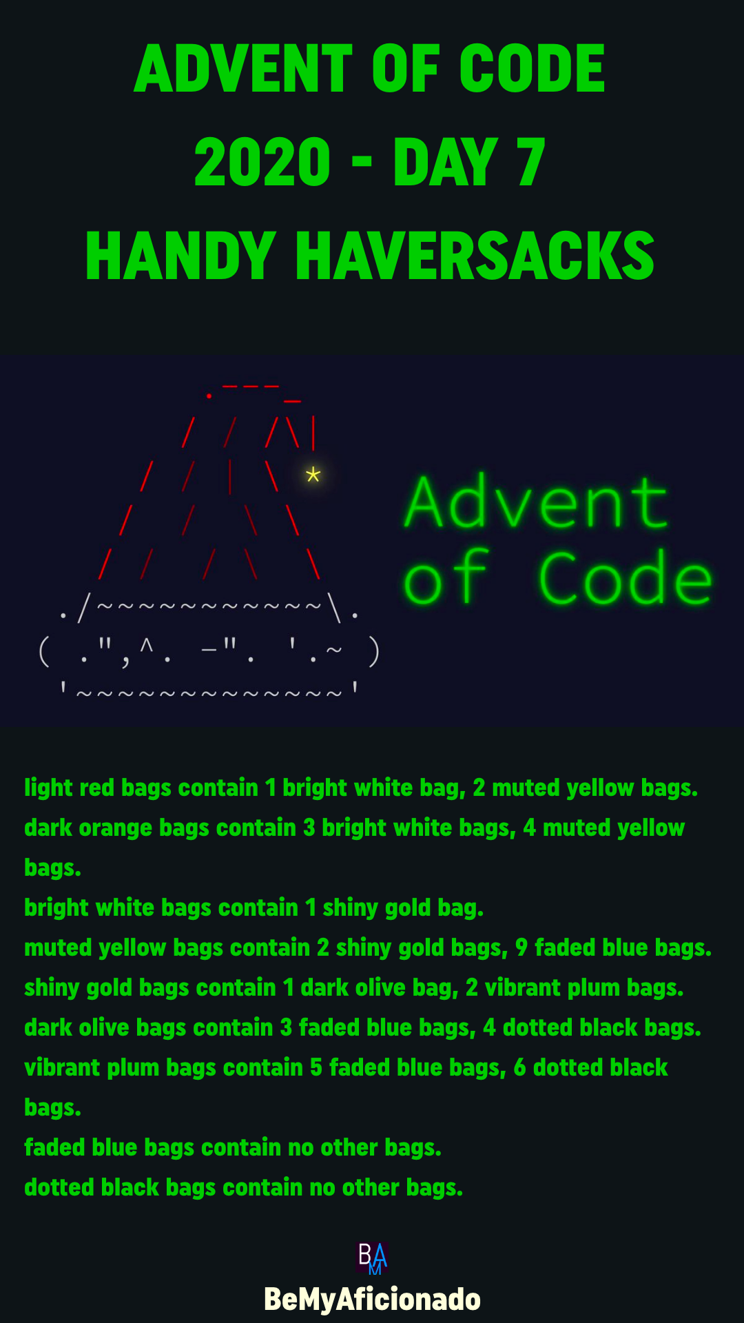 Advent of Code 2020 - DAY 7