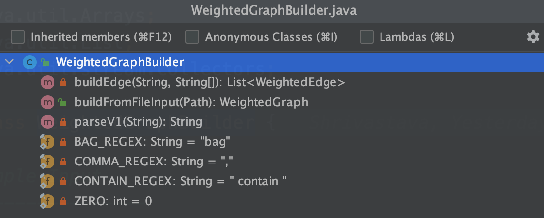 Weighted Graph Builder