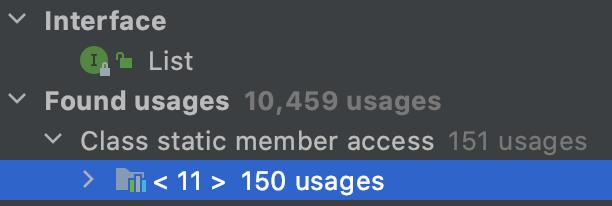 10,459 usages inside JDK itself