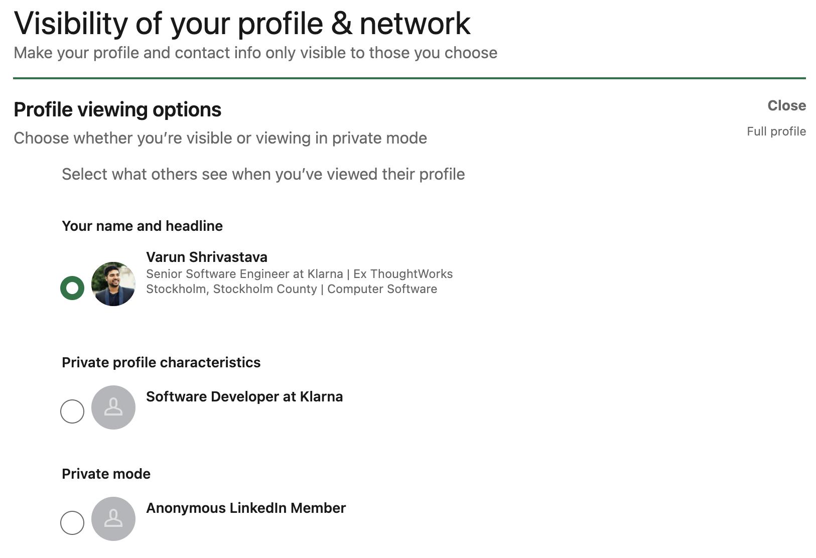 Make your LinkedIn profile public